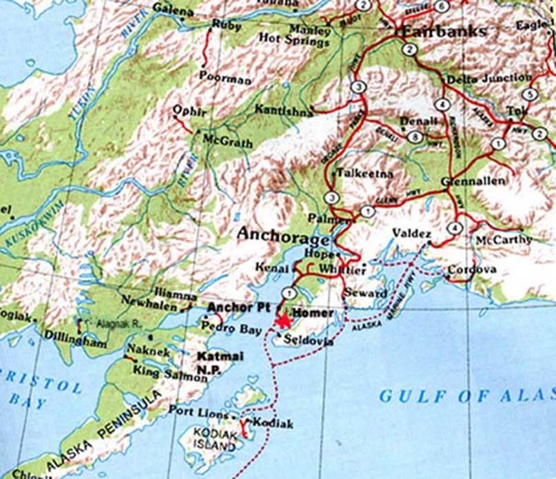 South Alaska Map.Map Room
